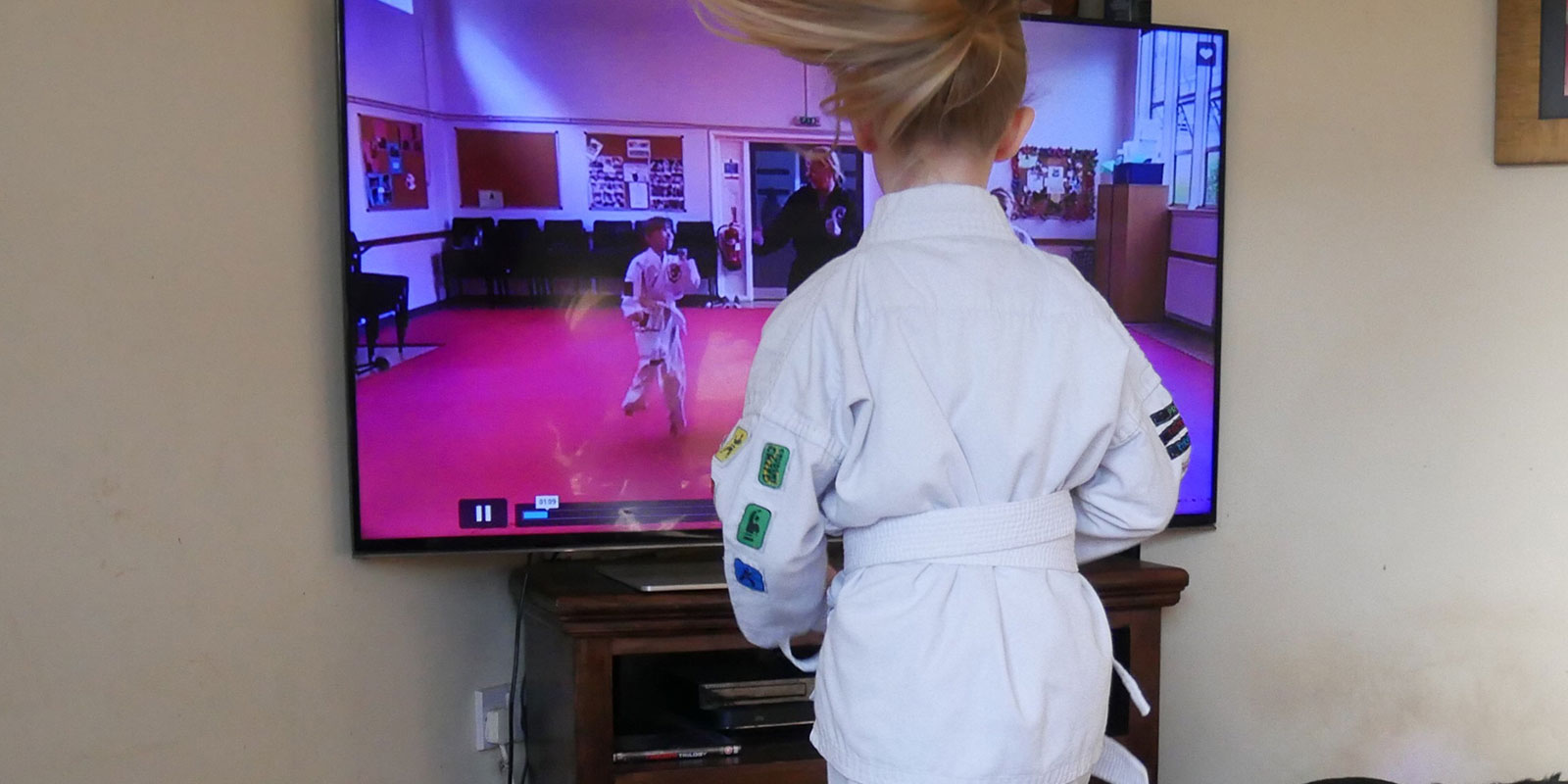 Live streamed kids karate classes