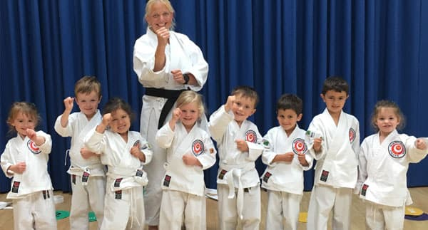Small children enjoying Kids Karate Classes in Cardiff