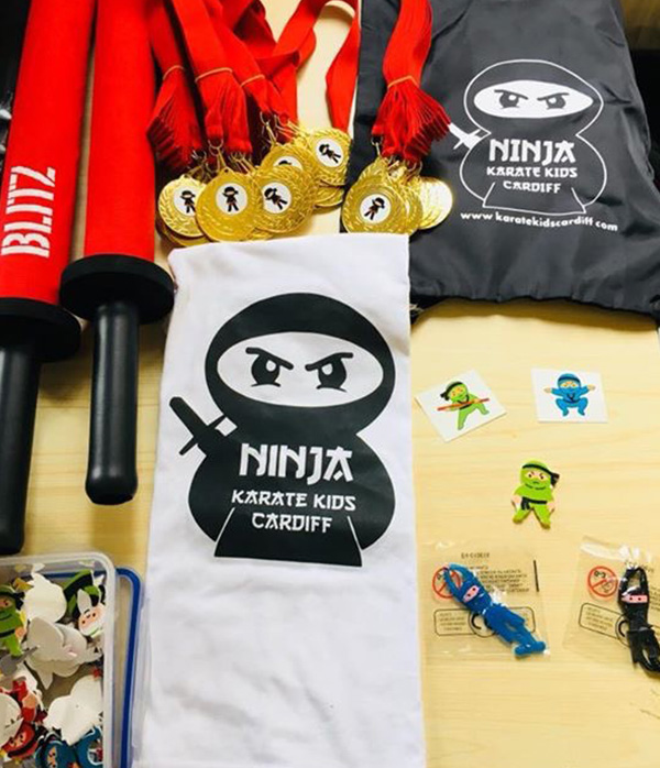 Ninja themed children's party gifts and toys