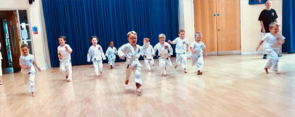 Karate classes for tots in Cardiff